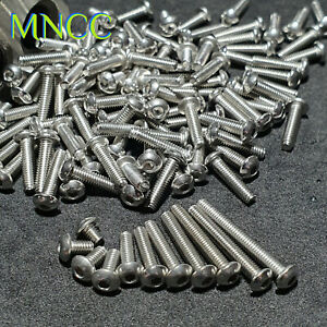 2/5/10pc M2.5 x 3mm~20mm Hex Socket Button Head Screws 304 Stainless Steel