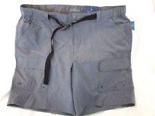 Croft & Barrow Side Elastic Belted Cargo Shorts - Size 48 - Peppr Hthr (Blue)
