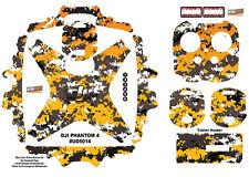 Yellow Camouflage DJI Phantom 4 P4 Skin Wrap Decal Sticker Vinyl Ultradecal