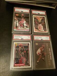 4 Card Michael Jordan PSA Lot! 92-93 Topps! Upper Deck! Ultra!