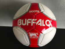 Brand New Buffalo Brand Soft Touch PVC Red/White Size 5 Shooter Soccer Ball