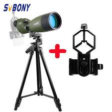 "SVBONY FMC 25-75x70mm Straight Spotting Scope+49"" Tripod+Cell Phone Adapter CO"