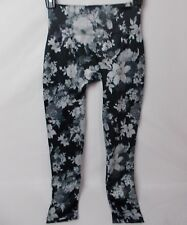 First Looks Women's Tonal Floral Skimmer Seamless Leggings Size M/L