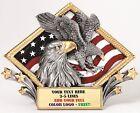 EAGLE AMERICANA RESIN PLAQUE AWARD MILITARY POLICE FIRE FREE ENGRAVING MRDP08