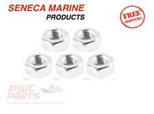 "5x SENECA Marine M3 3mm Female Thread Hex Metal Nut Fastener Silver Tone 3/25"""