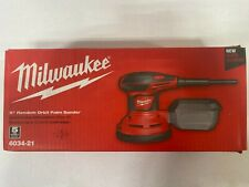 Milwaukee 6034-21 5 in. Random Orbit Palm Sander - NEW w/ Bag & All Accessories