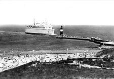 "AK, Rostock Warnemünde, Fährschiff ""Warnemünde"" an der Mole, 1977"