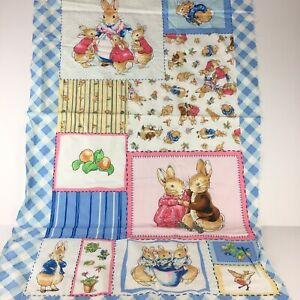 With Quote Pink Fabric Cushion  Craft Quilting Panel Peter Rabbit