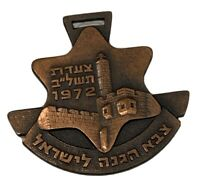 Vintage IDF Bronze Tag March To Jerusalem 1972 Rare Free Shipping