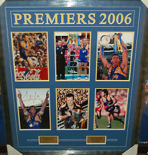 WEST COAST EAGLES 2006 AFL PREMIERS SIGNED & FRAMED PHOTO COLLAGE JUDD COUSINS