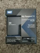 WD MY PASSPORT X Gaming storage External Hard drive- XBOX ONE/PC 2TB - BRAND NEW