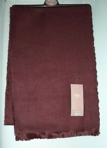 NEW MEN'S MARKS AND SPENCER BURGUNDY SOFT TOUCH SCARF ONE SIZE