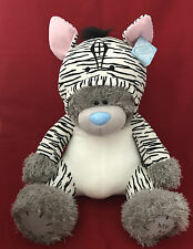 """ME TO YOU BEAR NEW XLARGE 24"""" WILDLIFE OUTFIT ZEBRA GIFT *FREE NEXT DAY DELIVERY"""