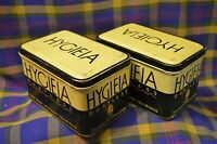 Pair of Vintage HYCIEIA Dustless Chaulk Tins-American Crayon Co Sandusky, Ohio