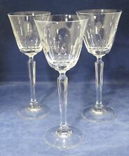 "Ashley by Mikasa Crystal Lot of 3 Wine Glasses 7 7/8"" In Excellent Shape"