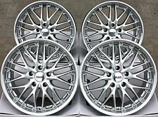 "18"" CRUIZE 190 ALLOY WHEELS HYPER SILVER & POLISHED LIP DEEP DISH 18 INCH ALLOYS"