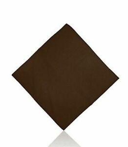 Bandana Plain Dark Brown Color Head wrist Scarf Neckerchief Bandanna Face Mask