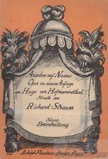 Ariadne auf Naxos. Oper in einem Aufzuge nebst einem Vorspiel von Hugo von Hofma