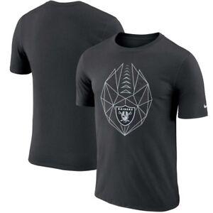 Las Vegas Raiders Mens Nike Football Icon Dri-Fit Cotton T-Shirt- Lrg & Med  NWT