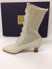 Ivory victorian steampunk stretch boots- Stuart Weitzman- new-5 B