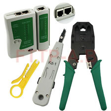 RJ45 RJ11 RJ12 Cat5 Cat5e Portable LAN Network Kit Utp Cable Tester&Crimp&Plier