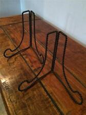 2x Negro Alambre de hierro CABALLETES Expositor Imagen Lienzo Trabajo Arte Base
