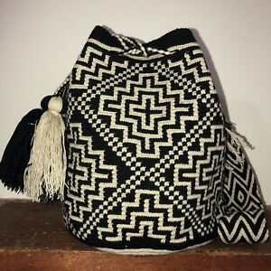 Authentic 100% Wayuu Mochila Colombian Bag Large Size Best Selling unisex Colors