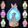 Cherub Sitting In Wings LED Light Ornament Angel Figurine Fairy Figure Memorial