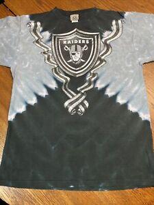 Vintage Oakland LA Raiders Liquid Blue Shirt XL New Vegas Tie Dye NOS NWOT