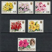 NIUE 1981-82 $1-$10 Flowers; Scott 329-34; MNH