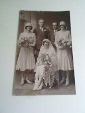 Vintage Wedding, Real Photo Postcard, Pub. Sellman, Pocklington §E2252