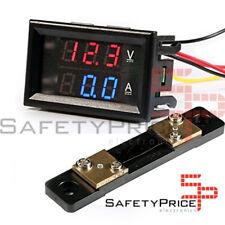 Voltimetro Amperimetro 100V 50A Digital DC Rojo Azul voltmeter Panel Shunt SP