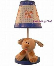PLUSH PUPPY NURSERY LAMP WITH MATCHING SHADE NEW BABY
