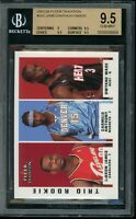 2003-04 RC LEBRON JAMES Wade Anthony Fleer Trio Rookie #300 BGS 9.5 HOF 4.8k DPI