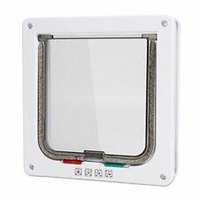 """Medium Cat Flap Door with 4 Way Lock (Outer Size 7.5"""" x 7.8""""), Magnetic Pet Door"""