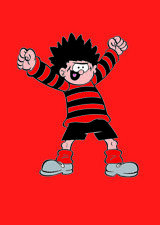 BEANO GREETING CARD: DENNIS THE MENACE - NEW IN CELLO