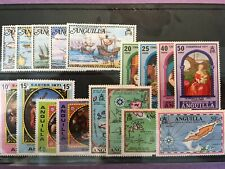 Anguilla (Commonwealth, Caribbean) - 4 sets (17 stamps) mint (MH) 1971-1973