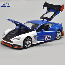 Toys Aston Martin Vantage GT3 Model Cars 1:32 Alloy Diecast Sound & Light Blue