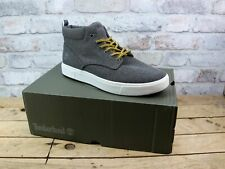 MENS TIMBERLAND AMHERST FLEXI KNIT CHUKKA GREY COMFORT RETRO TRAINERS SIZE 9.5