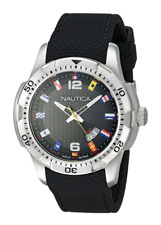 Nautica Men's NAD13517G NCS 16 Flag Analog Display Japanese Quartz Black Watch