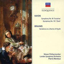 Pierre Monteux - Haydn: Sym Nos 94 & 101 / Brahms: Haydn Var [New CD]