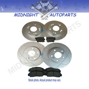 Front & Rear Rotors+SemiMetallic Pads For Dodge Sprinter, Freightliner Sprinter
