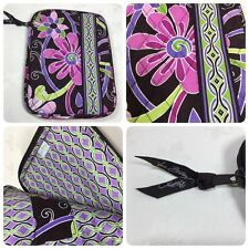 "Vera Bradley Purple Punch Retired Tablet Kindle Case Holder Sleeve EUC 7"" x 9.5"""