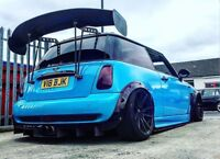 BMW MINI ONE COOPER & S R53 R56 1.6 02-13 BGW BIG REAR SPOILER WING