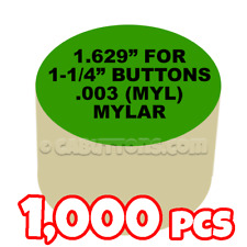 "1-1/4"" Tecre Mylars Clear Plastic Cover for Button Maker Machine Press 1000 pcs"