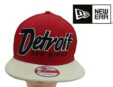 Detroit Red Wings 9F NHL Logo Pop NEW ERA Red and White  SnapBack cap/Hat