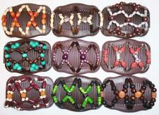 """Angel Wings Hair Clips 4x3.5"""", African Butterfly Combs, US SELLER,  BROWN S103"""