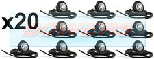 20x 12V/24V FRONT WHITE/CLEAR SMALL ROUND LED BUTTON MARKER LAMPS/LIGHTS TRUCK