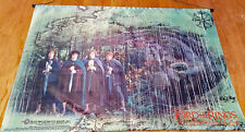 "Extremely Rare - LORD OF THE RINGS LOTR - SATIN SCROLLED POSTER 38"" X 26"""