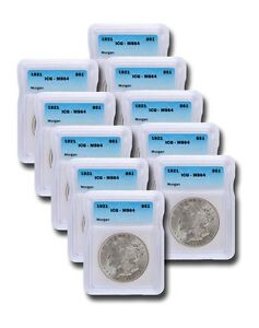 1921 Silver Morgan Dollar ICG MS64 S$1 Lot of 10